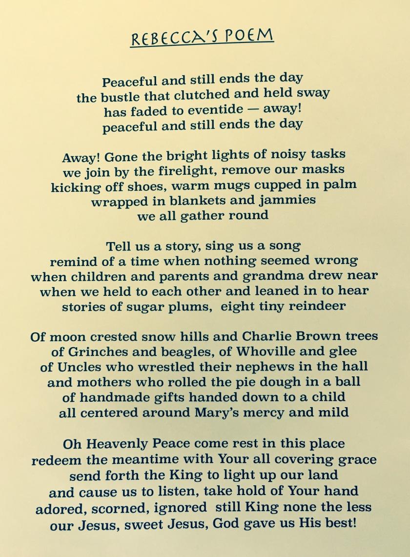 Rebecca's Poem
